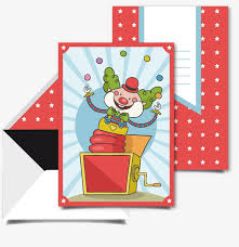 clown birthday card hand drawn birthday card envelopes cards