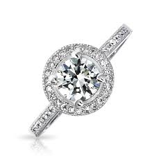 circle engagement ring cz solitaire engagement ring vintage 925 sterling 75ct