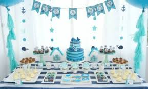 blue baby shower decorations a boy s whale themed baby shower spaceships and laser beams