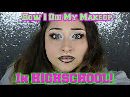 makeup school michigan omg how i did my makeup in high school challenge bad