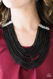 black seed bead necklace images Paparazzi accessories we got the bead black jpg