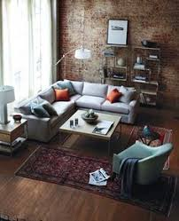 Industrial Look Living Room by One Design Two Budgets Rustic Industrial Living Room