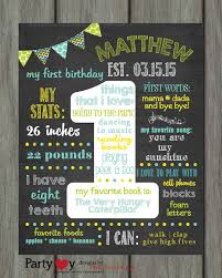 1st birthday chalkboard items similar to birthday chalkboard poster birthday
