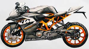 bmw bicycle logo how to draw a motorcycle ktm rc 200 sports bike step by step easy