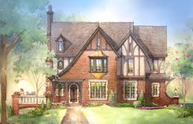 100 tudor exterior paint colors red brick tudor house stock