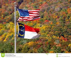 North Carolina Flag United States And North Carolina Flag Stock Image Image Of