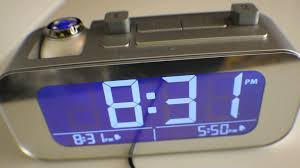 Coolest Clock Brookstone Timesmart Projection Alarm Clock With Two Alarm