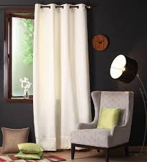 Blackout Door Curtains Buy Off White Polyester 90 X 54 Inch Plain Blackout Door Curtain