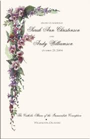 wedding ceremony program covers orchid wedding program exles wedding program wording wedding