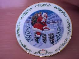 lenox santa plates collection on ebay