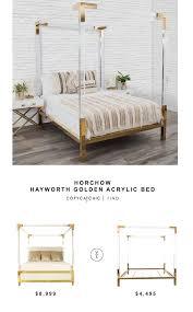 Horchow Home Decor Horchow Hayworth Golden Acrylic Bed Copycatchic