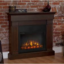 real flame slim line crawford chestnut oak electric fireplace