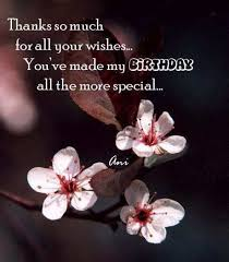 thank you for the birthday wishes birthday thank you quotes