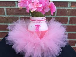 tutu centerpieces for baby shower it s a girl baby shower centerpiecepink jarpink