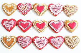 heart shaped cookies heart shaped cookies for valentines day white stock