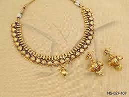 necklace design gold images Golden design antique necklaces at rs 535 set gold plated jpg