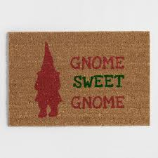 gnome sweet gnome coir doormat world market