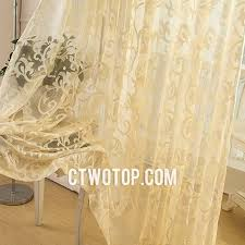 patterned shabby chic traditional classic sheer curtains
