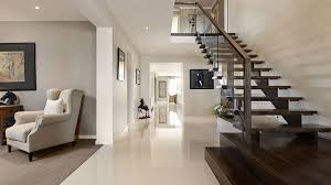 modern houses interior visualization for family house with cream color interior in
