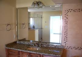 Beveled Bathroom Vanity Mirror Bathrrom Mirrors Portfolio Seashore Glass And Mirror