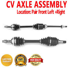 Cv Half Shaft Assembly by Front Pair Cv Axle Assembly For Toyota Rav4 96 00 Fwd Automatic