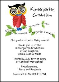 kindergarten graduation invitations wise owl kindergarten graduation announcement invitation cards