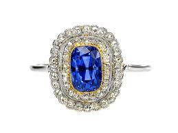 diamond ring art deco in platinum u0026 18ct yellow gold
