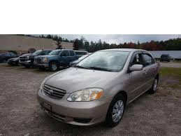 2003 used toyota corolla used toyota corolla vehicles for sale at arthur glick truck sales inc