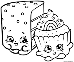 cute shopkins cakes coloring pages printable