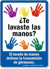 Printable Bathroom Passes Spanish Wash Hands Hygiene Sign Free Pdf Sku S 4871 S
