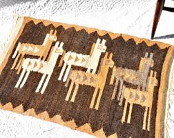 Southwestern Throw Rugs Vintage Woven Rug Etsy