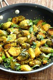 brussel sprouts for thanksgiving pan roasted brussels sprouts subzi with turmeric cumin and