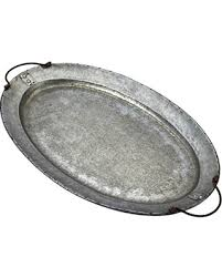 mud pie serving platters deals on mud pie 4894001 oval galvanized tin serving tray silver