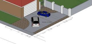 Standard Measurement Of House Plan Driveway Dimensions Check
