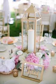 Pink And Gold Centerpieces by Elegant Michigan Wedding At Bay Harbor Marina Pink White