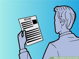 How To Make A Simple Job Resume by 4 Ways To Create A Teacher Portfolio Wikihow