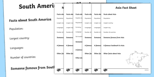 continents factsheet writing templates continents continents