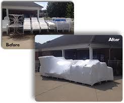 Shrink Wrap Patio Furniture Shrink Wrap Services U2013 Swimsafe Pool Management Inc
