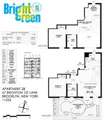 Garden Apartment Floor Plans Bright N Green Apartment 2b Floor Plan