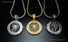 men necklace jewelry images Scorpio zodiac scorpion pendant necklace 18k gold silver plated jpg