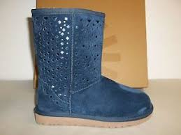 ugg womens shoes ebay ugg australia size 5 m flora navy leather boots