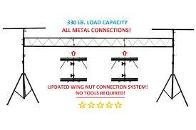 dj lighting truss package lk x15 15ft portable dj lighting truss stand w t bar trussing stage