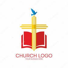 Blue And Yellow Cross Flag Church Logo Cross Bible Dove Icon Red Yellow Blue U2014 Stock