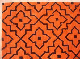 Orange Area Rug Geometric Style Modern Grey Orange Area Rug Adc Rugs