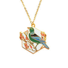 bird gold necklace images Tui bird 24kt gold plated necklace natelle draws stuff jpg
