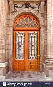 rustic ornamental decorative brown wooden and metal doors
