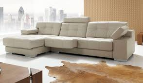 L Shaped Sofa With Chaise Lounge by Leather Corner Sofa Spain Memsaheb Net