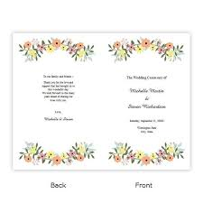 folded wedding program template country flowers folded wedding program template a j s prints