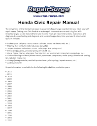 2006 honda civic service schedule honda civic repair manual 1990 2012