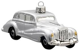 silver vintage car ornament contemporary ornaments
